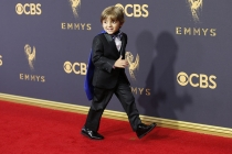Jeremy Maguire on the red carpet at the 2017 Primetime Emmys.