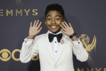 Miles Brown on the red carpet at the 2017 Primetime Emmys.