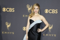 Cara Buono on the red carpet at the 2017 Primetime Emmys.