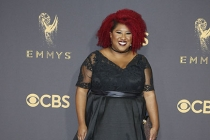 Ashley Nicole Black on the red carpet at the 2017 Primetime Emmys.