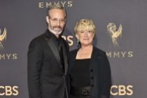 Michael Gill and Jayne Atkinson on the red carpet at the 69th Primetime Emmy Awards