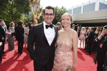 Ty Burrell and Holly Burrell on the red carpet at the 2017 Primetime Emmys.