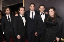 Kyle Mooney, Mikey Day, Pete Davidson, Beck Bennett and Aidy Bryant on the red carpet at the 69th Primetime Emmy Awards