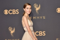 Kiernan Shipka on the red carpet at the 2017 Primetime Emmys.