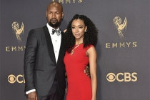Kenric Green and Sonequa Martin-Green on the red carpet at the 2017 Primetime Emmys.