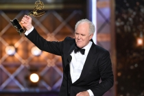 John Lithgow accepts his award at the 69th Primetime Emmy Awards