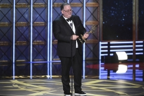Bruce Miller accepts his award at the 69th Primetime Emmy Awards