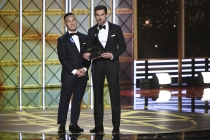 BD Wong and Matt Bomer present an award at the 2017 Primetime Emmys.