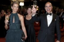 Karyn Kelly and Michael Kelly at the 69th Emmys Governors Ball.