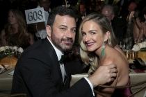 Jimmy Kimmel and Molly McNearney at the 69th Emmys Governors Ball.