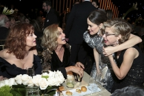 Susan Sarandon, from left, Jessica Lange, Sarah Paulson and Jackie Hoffman at the 69th Emmys Governors Ball.