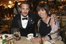 Alexander Skarsgard and his mother at the 69th Emmy Awards Governors Ball.