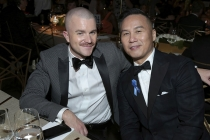 Richert Schnorr and B.D. Wong at the 69th Emmy Awards Governors Ball.