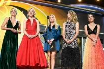 Shailene Woodley, Nicole Kidman, Reese Witherspoon, Laura Dern and Zoe Kravitz present at the 69th Emmy Awards.