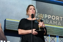 Ann Dowd accepts her award at the 69th Primetime Emmys