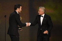 Bill Hader and Michael Douglas