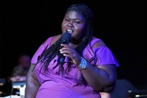 Gabourey Sidibe speaks at WORDS + MUSIC, presented Thursday, June 29, 2017 at the Television Academy's Wolf Theatre at the Saban Media Center in North Hollywood, California.