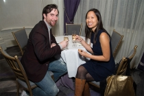 Gavin Bridge and Lisa Wong at the New York Networking Night Out, November 13, 2015 at the St. Regis in New York City.