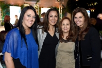 Katrina Gilbert, subject of the documentary Paycheck to Paycheck: The Life and Times of Katrina Gilbert, Honors chair Lucia Gervino, and producers Sherri Cookson and Maria Shriver at the awards presentation at the Eighth Annual Television Academy Honors,