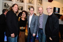 L-R: Television Academy governor for production executives Tony Carey, Mirette Seireg Levine, performers governor Bob Bergen, Scott Carpinteri, and music governor Michael Levine at An Evening with Norman Lear at the Montalban Theater in Hollywood.