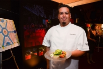 Gregg Wiele, Corporate Executive Chef for Patina Catering, at the Television Academy's 66th Emmy® Awards Governors Ball Sneak Peek press preview.