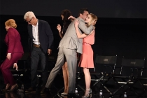 """The cast of Mad Men say goodbye onstage at """"A Farewell to Mad Men,"""" May 17, 2015 at the Montalbán Theater in Hollywood, California."""