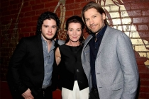 Kit Harrington, Michelle Fairley and Nikolaj Coster-Waldau at An Evening with Game of Thrones.