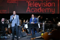 Television Academy Chairman and CEO Hayma Washington speaks and Television Academy governor Rickey Minor prepares to perform at WORDS + MUSIC, presented Thursday, June 29, 2017 at the Television Academy's Wolf Theatre at the Saban Media Center in North Ho