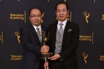Hiroshi Kiriyama and Kurashige Tadamasa at the 68th Engineering Emmy Awards, October 28, 2016 at Loews Hollywood Hotel in Los Angeles, California.