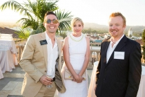 James Connelly, James Yarnell and guest at the Art Directors/Set Decorators Nominee Reception in Beverly Hills, California.