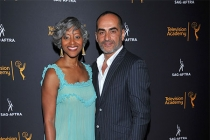 Janice Littlejohn and Navid Negahban at the Television Academy's Dynamic and Diverse event, August 25, 2016, at the Saban Media Center, North Hollywood, California.