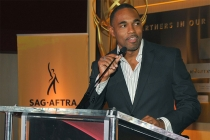 Jason George speaks at the Television Academy's Dynamic and Diverse event, August 25, 2016, at the Saban Media Center, North Hollywood, California.