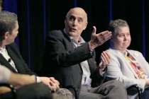Jill Soloway, Jeffrey Tambor, and Ali Liebegott onstage at Transparent: Anatomy of an Episode, March 17, 2016 in Los Angeles.
