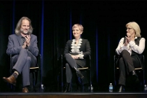 Jim Frohna, Cat Smith,  and Sunny Hodge onstage at Transparent: Anatomy of an Episode, March 17, 2016 in Los Angeles.