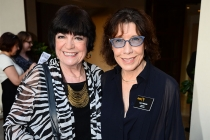 Jo Anne Worley and Lily Tomlin at the Performers Peer Group nominee reception.