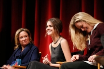 Joanna Johnson, Maia Mitchell and Teri Polo onstage at An Evening with The Fosters in Los Angeles, California.