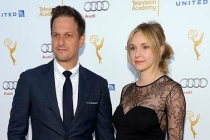 Josh Charles and Sophie Flack arrive at the Performers Peer Group nominee reception in West Hollywood.