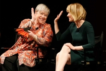 Kathy Bates and Sarah Paulson onstage at An Evening with the Women of American Horror Story in Hollywood, California.