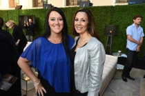 Katrina Gilbert and Lucia Gervino enjoy the reception at the Eighth Annual Television Academy Honors, May 27 at the Montage Beverly Hills.