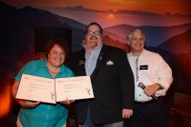 Kelley Dixon, Scott Boyd, and Stuart Bass at the Picture Editors Nominee Reception in North Hollywood, California.