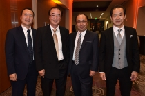 Kento Sayama, Sumimasa Yanagisawa, Hiroshi Kiriyama,  and Kurashige Tadamasa at the 68th Engineering Emmy Awards, October 28, 2016 at Loews Hollywood Hotel in Los Angeles, California.