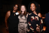 Kim Coleman, Television Academy governor Sharon Lieblein, and Leah Daniels Butler at the Casting Directors nominee reception September 10, 2015 in Los Angeles, California.