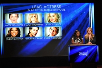 Uzo Aduba and Cat Deeley announce the nominees for Lead Actress in a Limited Series at the nominations announcement for the 67th Emmy Awards  July 16, 2015 at the Pacific Design Center in Los Angeles, CA.