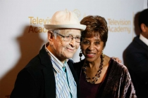 Norman Lear and Marla Gibbs on the red carpet at An Evening with Norman Lear at the Montalban Theater in Hollywood.