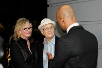 Common greets Norman and Lyn Lear on the red carpet at An Evening with Norman Lear at the Montalban Theater in Hollywood.