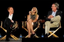 Actors Claire Danes and Damian Lewis with Homeland executive producer Alex Ganse at An Evening with Homeland.