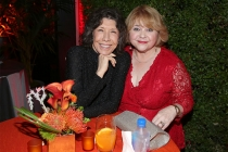 Television Academy governor Lily Tomlin with Patrika Darbo at the Performers Nominee Reception, September 16, 2016 at the Pacific Design Center, West Hollywood, California.