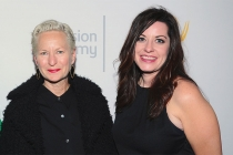 Emmy nominees Lou Eyrich of American Horror Story: Freak Show and Jenny Eagan of Olive Kitteridge at The 9th Annual Outstanding Art of Television Costume Design Exhibition at the FIDM Museum & Galleries, Saturday, July 18, 2015, in Los Angeles.
