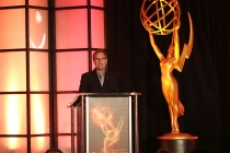 Television Academy president and COO Maury McIntyre speaks at the 68th Engineering Emmy Awards, October 28, 2016 at Loews Hollywood Hotel in Los Angeles, California.