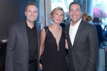 Television Academy president and COO Maury McIntyre, FIDM museum director Barbara Bundy, and Television Academy chairman and CEO Bruce Rosenblum at The 9th Annual Outstanding Art of Television Costume Design Exhibition at the FIDM Museum & Galleries, Satu